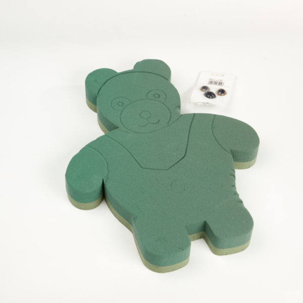 Oasis Foam Frames Floral Foam - Standing Teddy Bear with Eyes and Nose 1