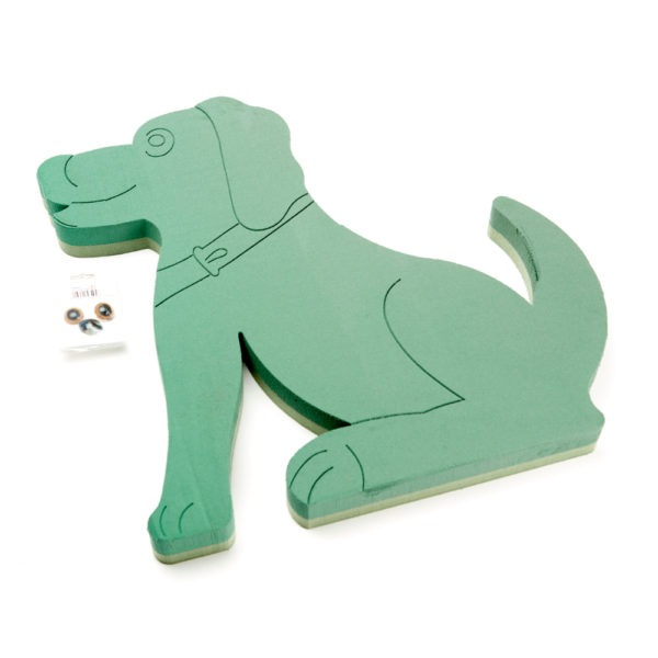 Oasis Foam Frames Floral Foam - Sitting Dog with Eyes and Nose 1