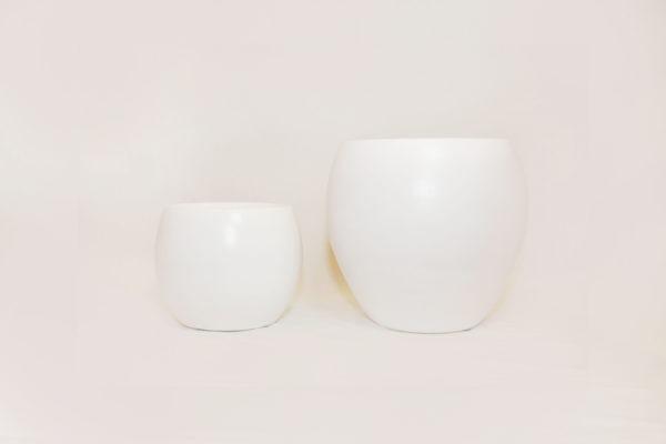 CRESTA Plant Pot - Pure White 1