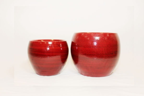 CRESTA Plant Pot - Deep Red 1