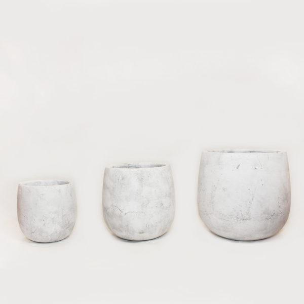 AMBER Plant Pot - Light Grey 1