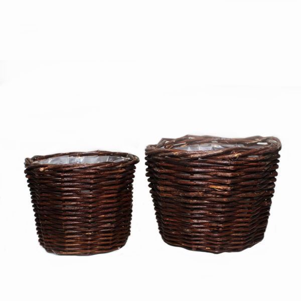 Circle Woven Basket Duo 1