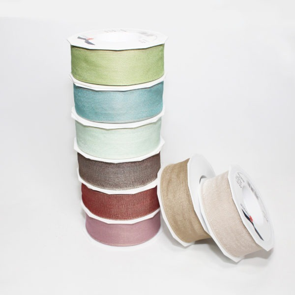 Wired Fabric Ribbon 4cm x 20m 1