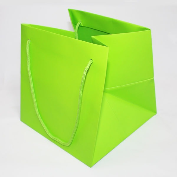 Hand Tie Bag - Lime Green 1