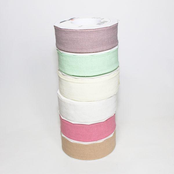 Linen Ribbon 4cm x 15m 1