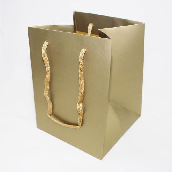 Hand Tie Bag - Gold 1