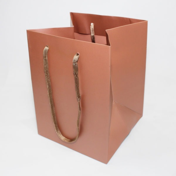Hand Tie Bag - Rose Gold 1
