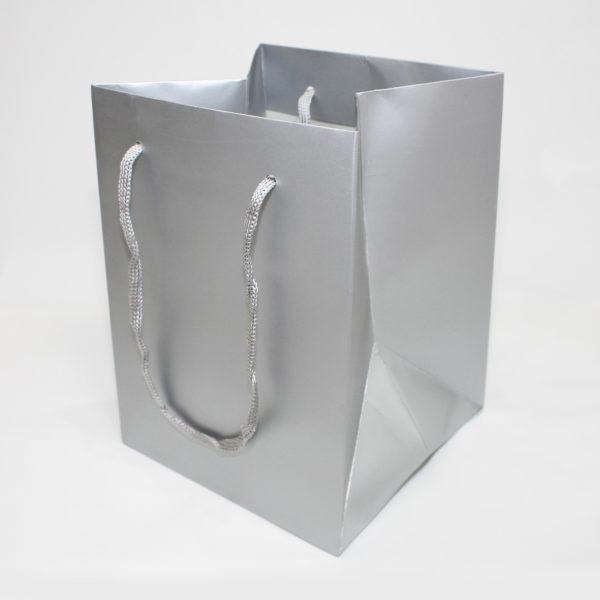 Hand Tie Bag - Silver 1