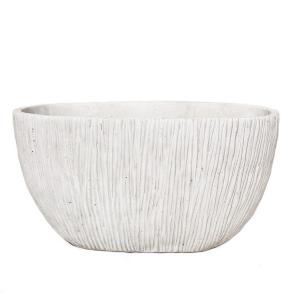 MILAN Boat Plant Pot - Cream 1