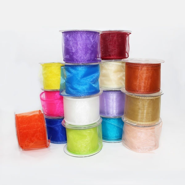 Wired Organza Ribbon 70mm x 20m 1