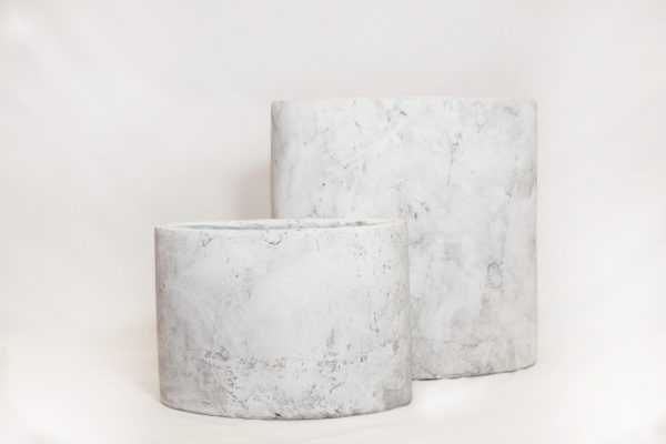 planter amber light grey duo