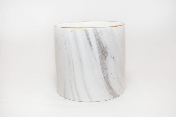 pot white marble a