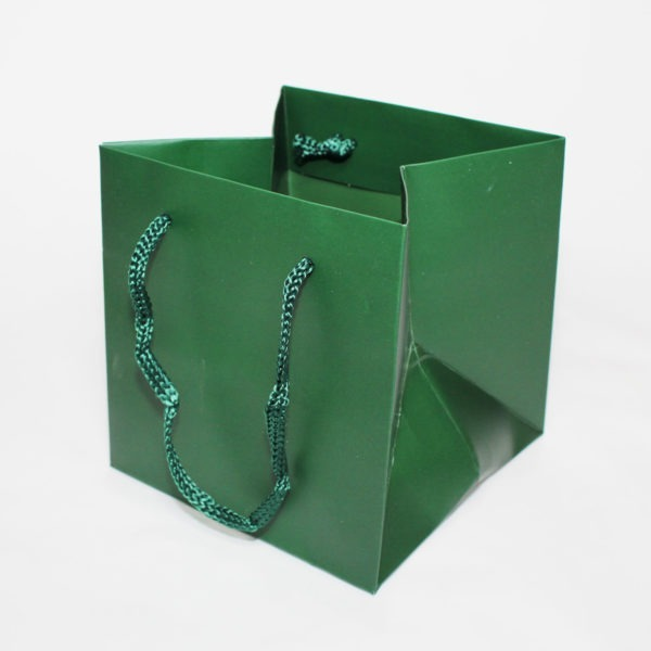 Hand Tie Bag - Dark Green 1