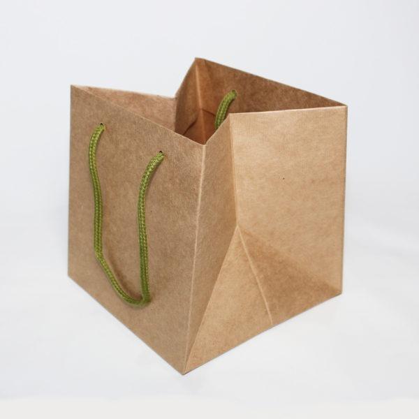 Hand Tie Bag - Natural Kraft 1
