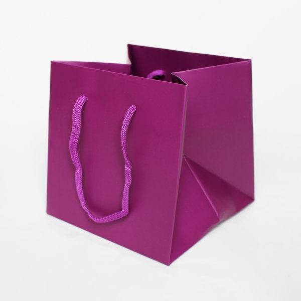 Hand Tie Bag - Plum 1