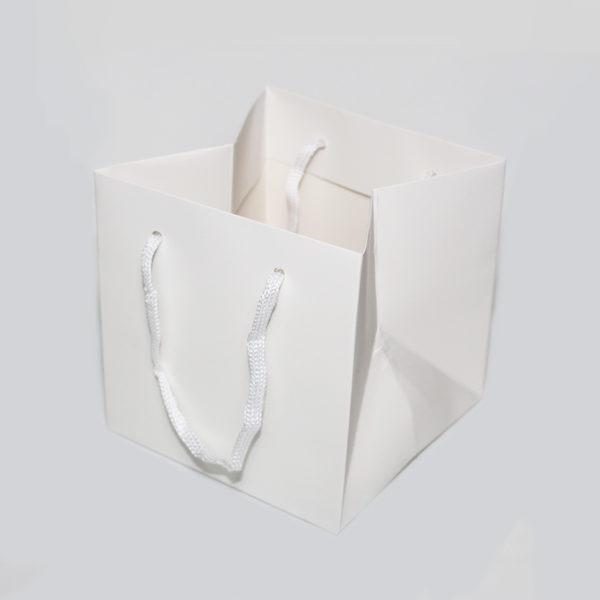 Hand Tie Bag - White 1