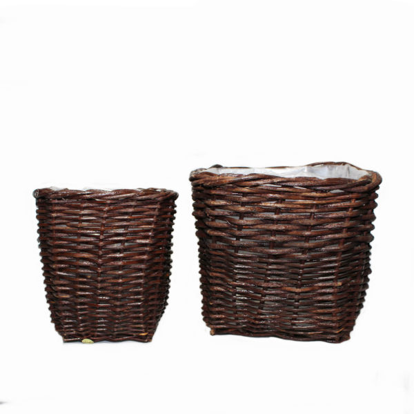Square Woven Basket Duo 1