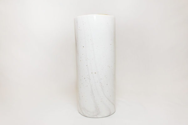 tall pot white marble a