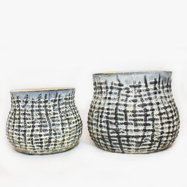 TOBY Plant Pot - Grey 1