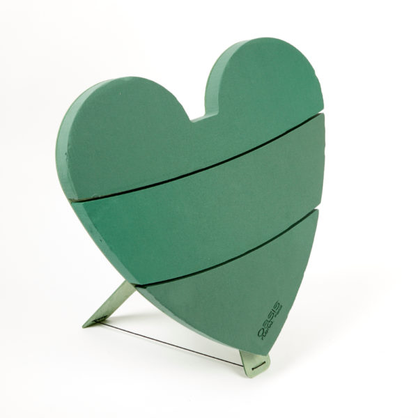 Oasis Bioline Ideal Floral Foam Heart on Stand 1