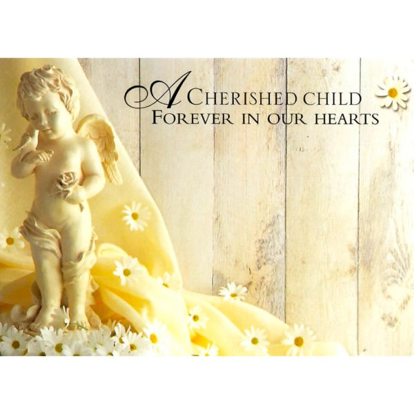 Large Cards - A Cherished Child Forever In Our Hearts 1