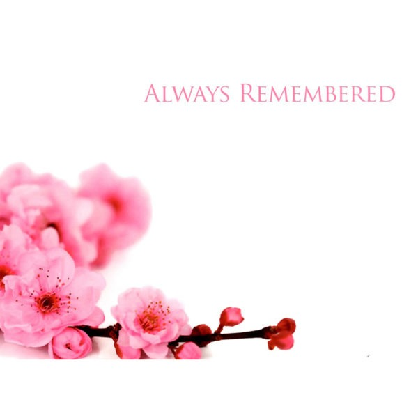 Large Cards - Always Remembered - Pink Blossom 1