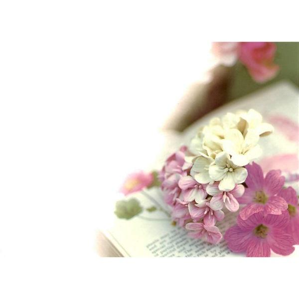 Large Plain Cards - Pink Floral 1