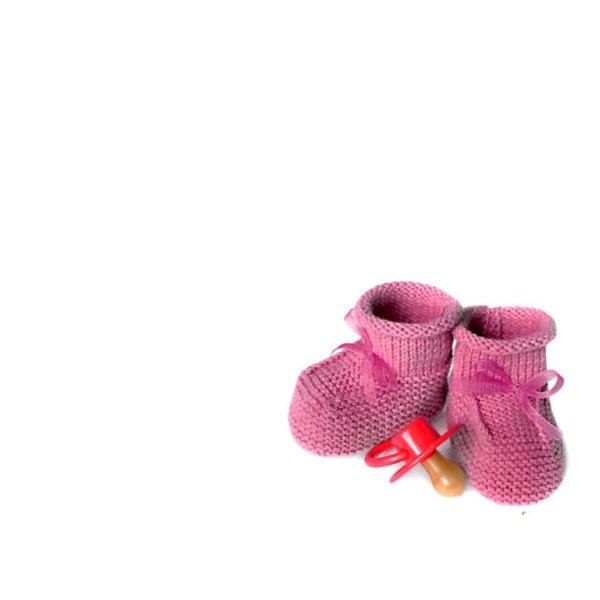 Large Plain Cards - Pink Booties 1