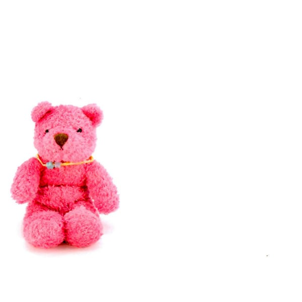 Large Plain Cards - Pink Teddy 1
