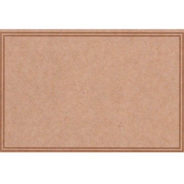 Small Plain Cards - Natural With Border 1