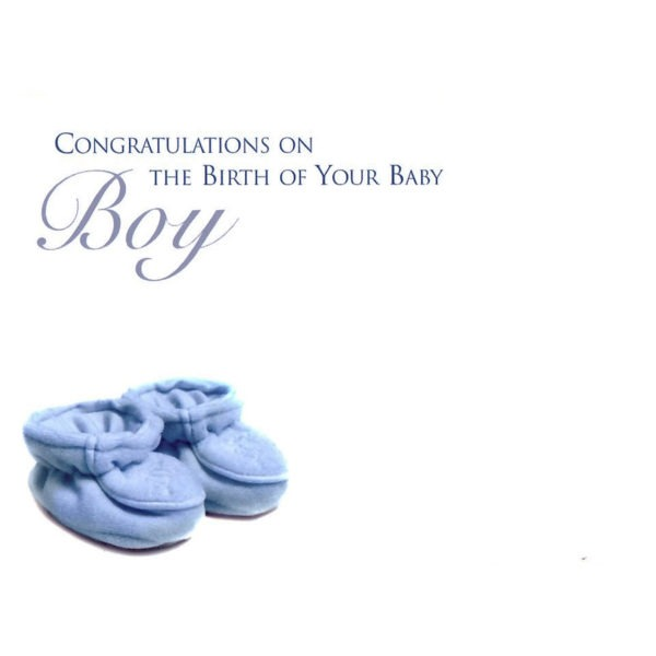 Large Cards - Congratulations On The Birth Of Your Baby Boy 1