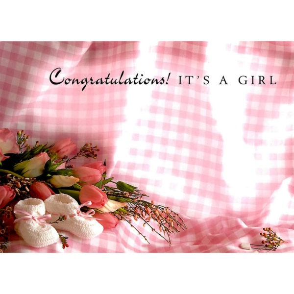 Large Cards - Congratulations! It's A Girl 1