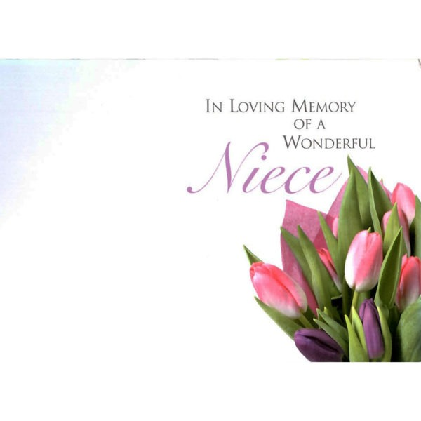 Large Cards - In Loving Memory Of A Wonderful Niece 1