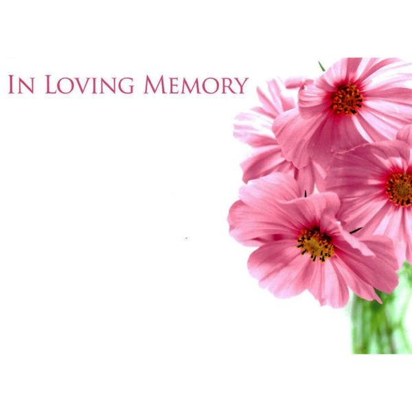 Large Cards - In Loving Memory 1