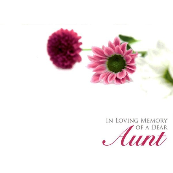 Large Cards - In Loving Memory Of A Dear Aunt 1