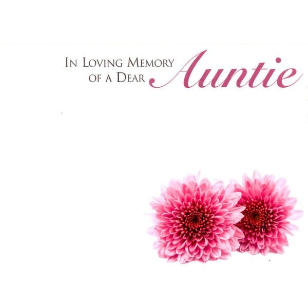 Large Cards - In Loving Memory Of A Dear Auntie 1