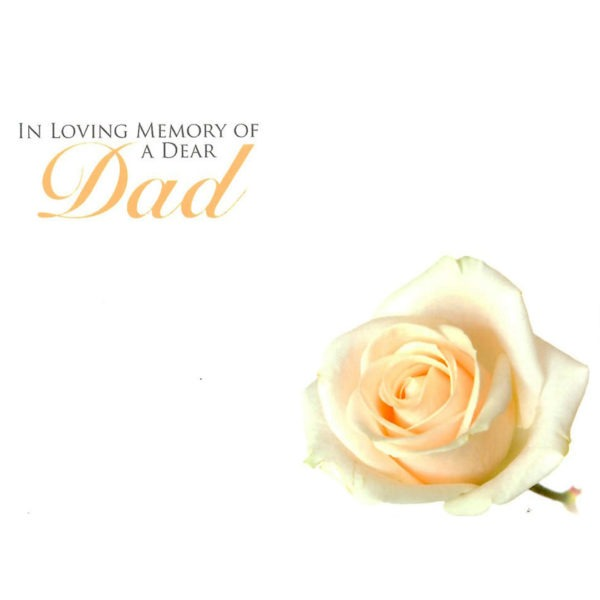 Large Cards - In Loving Memory Of A Dear Dad 1