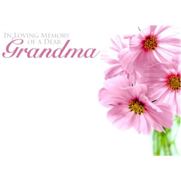 Large Cards - In Loving Memory Of Dear Grandma 1