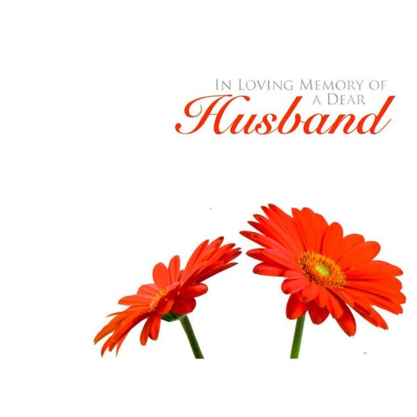 Large Cards - In Loving Memory Of A Dear Husband 1