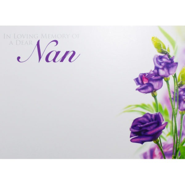Large Cards - In Loving Memory Of A Dear Nan 1