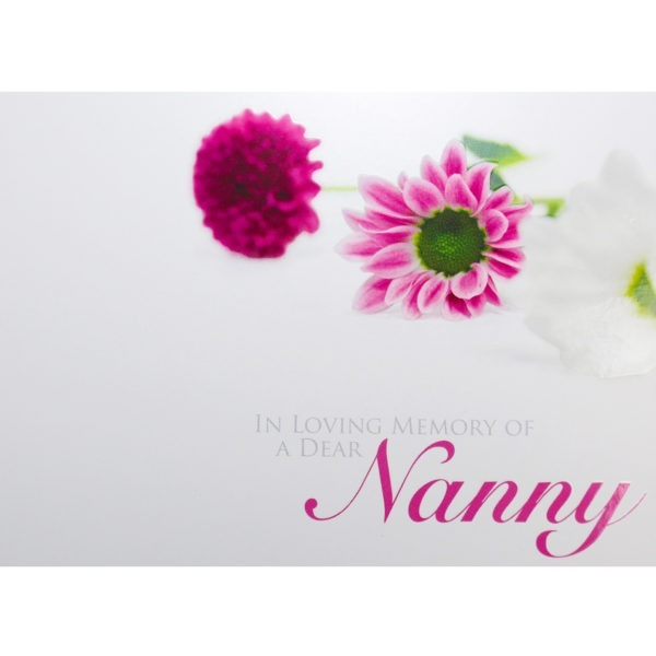 Large Cards - In Loving Memory Of A Dear Nanny 1