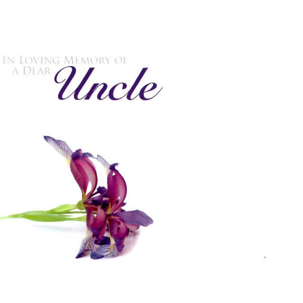 Large Cards - In Loving Memory Of A Dear Uncle 1