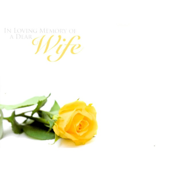 Large Cards - In Loving Memory Of A Dear Wife 1