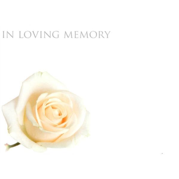 Large Cards - In Loving Memory - Rose 1
