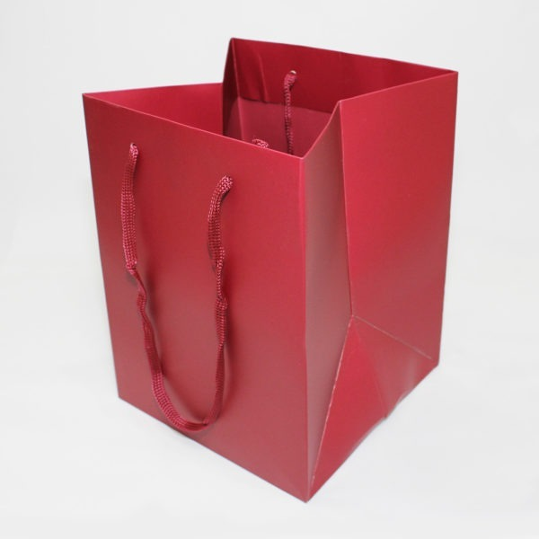 Hand Tie Bag - Dark Red 1