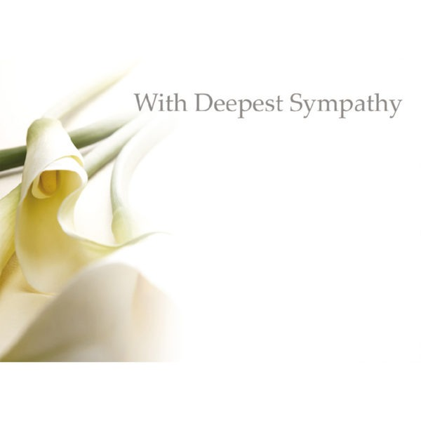 Large Cards - With Deepest Sympathy - Calla Lily 1