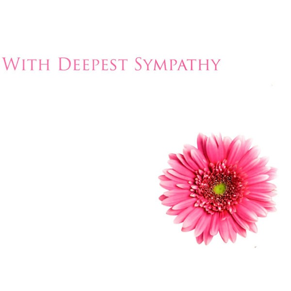 Large Cards - With Deepest Sympathy 1
