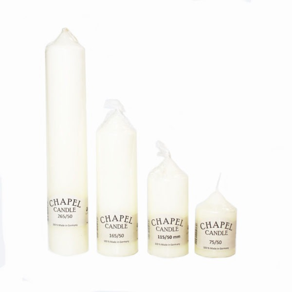 Ivory Chapel Candles - 50mm Base 1