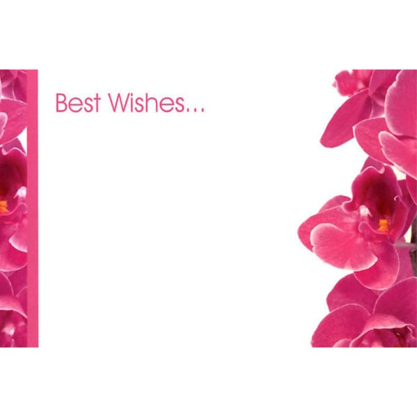 Small Cards - Best Wishes... - Cerise Orchid 1