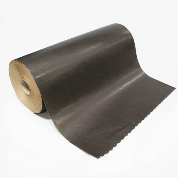 Black Ribbed Kraft Paper Roll 1